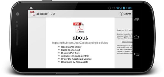 Android实现PDF文件预览阅读功能的方案